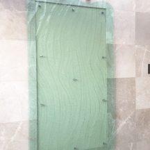 10mmDiamantina Slumped Clear Perspex Portico Residential